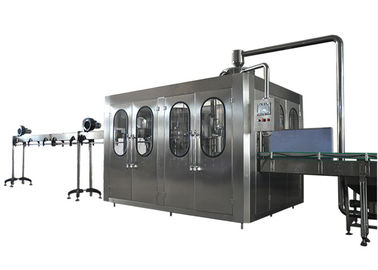 24 Filling Heads Bottled Water Filling Line With High Bottle Washing Efficiency